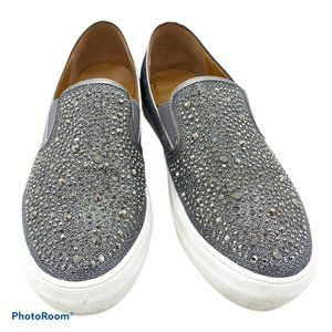 Volatile Shoes - Volatile Allisto Sparkle Silver Slip On Shoes 10